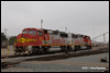 A cloudy Christmas morning 2010 at BNSF's San Diego, CA, yard finds GP60Ms 159 and 147 resting quietly