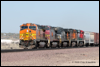 D9-44CW 4509 leads this all GE power consist which includes Superfleet, NS and Swoosh Dash 9s and a TFM GEVO eastbound mixed freight at Newberry, CA, 2010