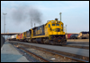 C30-7 8071 leads eastbound TOFC at the depot in San Bernardino, CA, 1989