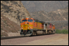 Dash 9-44CW 5370 nears the Swarthout Canyon Road crossing in Cajon Pass near Blue Cut, CA, 2007