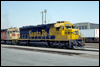 SD45 5402 leading an eastbound through San Bernardino, CA, 1990
