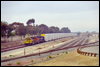 SD40-2 6717 in charge of automax cars bound for San Diego pauses at Fallbrook Jct., CA, 2000