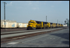 GP35 2824 brings westbound containers through San Bernardino, CA, 1991