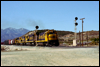 B36-7 7499 leads an eastbound mixed freight at Summit, CA, 1984